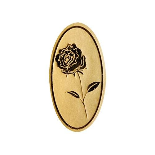 Etiketten Rose gold/schwarz (500 Stück)