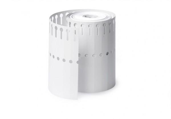 Schlaufen Etiketten 13x200 weiß 1000 Stück