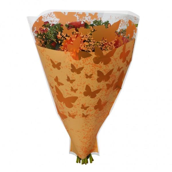 Blumentüten 52/44/12 Monarch orange (50 Stück)