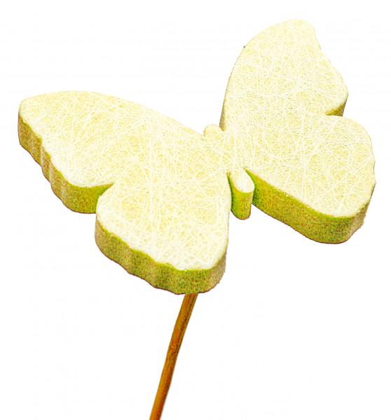 Beistecker Schmetterling Schaum gelb 7cm (25 Stück)