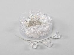 Stecknadeln 18mm Diamant transparent 24 Stück