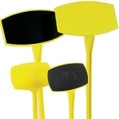 Preisschilder 35cm gelb schräg 10 Stück
