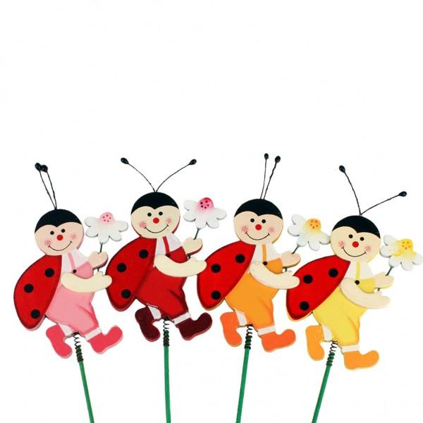Beistecker Käfer 4,5x6,8cm auf 20cm (24 Stück)