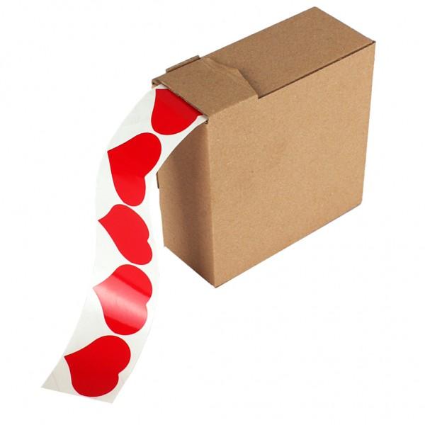 Etikett Herz glanz rot MC25 (500 Stück)