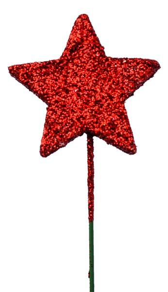 Beistecker OTH Stern Glitter rot (60 Stück)