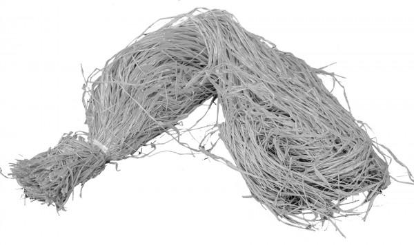 Raphia Bast gefärbt grau 500g