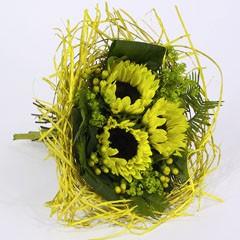 Bouquethalter Woody 25cm gelb 100 Stück