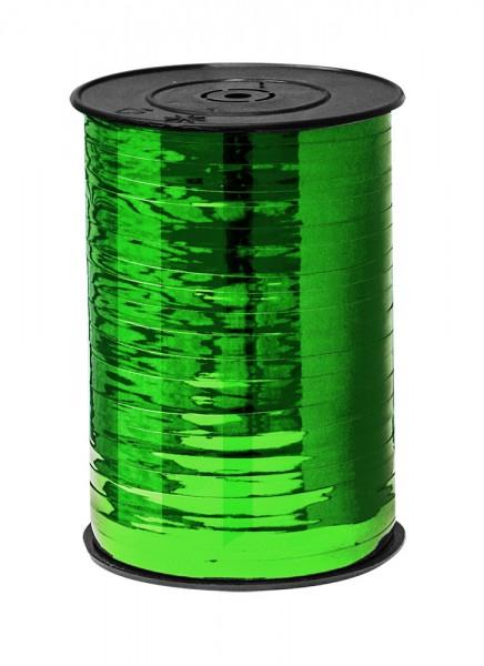 Kräuselband 10mmx225m grün metallic