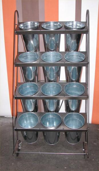 Blumenwagen 12 Vasen epoxy g/