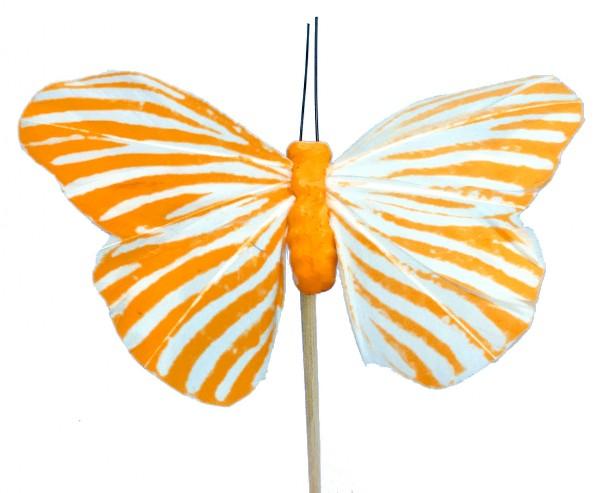 Beistecker Schmetterling Monarch orange 7x11cm (25 Stück)