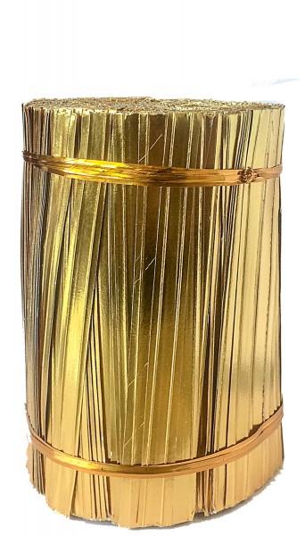 Bindestreifen 2-Draht gold 10cm (1000 Stück)