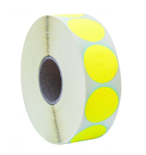 Etikett d=36mm fluor gelb (2000 Stück)