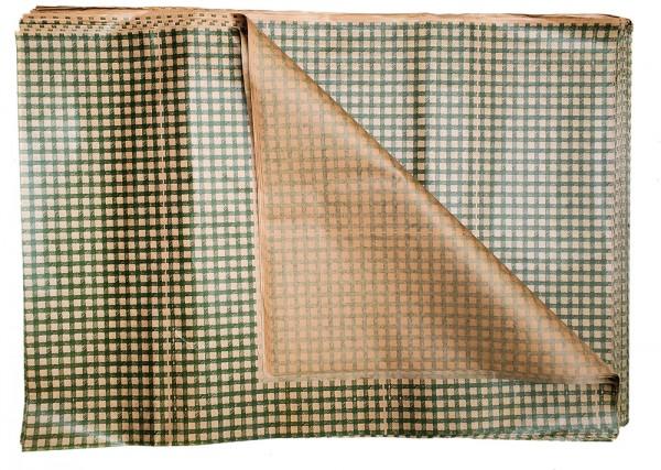 Blumenpapier Bögen 62x85 40g Braun Kraft Raute grün 10kg