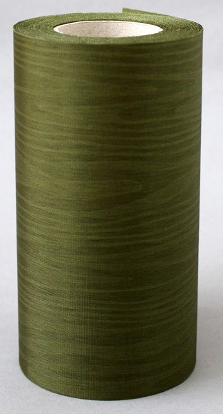 Kranzband Moire 100mm 25m moosgrün