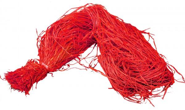 Raphia Bast gefärbt rot 500g