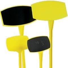 Preisschilder 25cm gelb/schwarz gerade 50 Stück