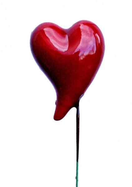 Beistecker 25cm Herz 5,5x4 rot (24 Stück)