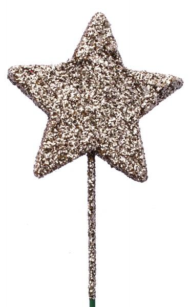 Beistecker OTH Stern Glitter champagner (60 Stück)