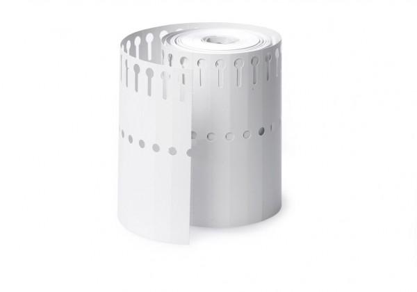 Schlaufen Etiketten 25x220 weiß 1000 Stück