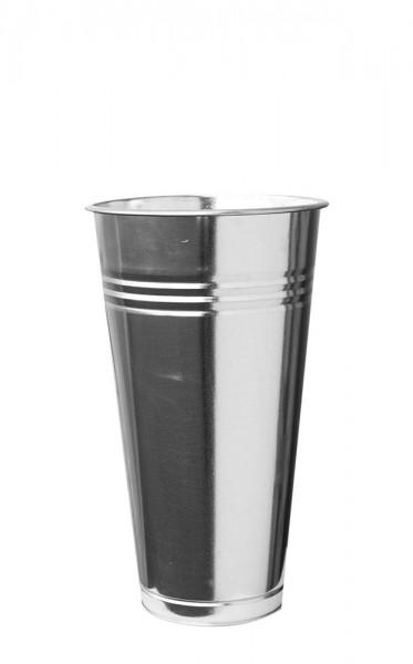 Zinkvase rund Riffel 23,5cm