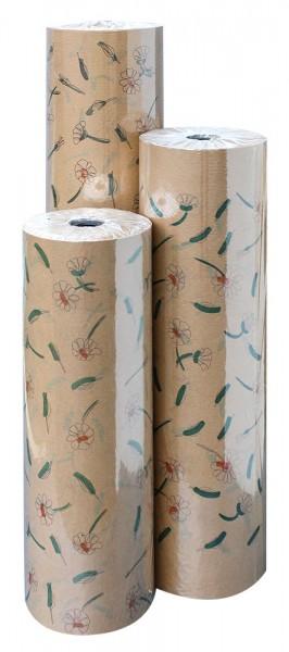Blumenpapier Rolle 60cm 35g Braun Kraft Camilla 12kg