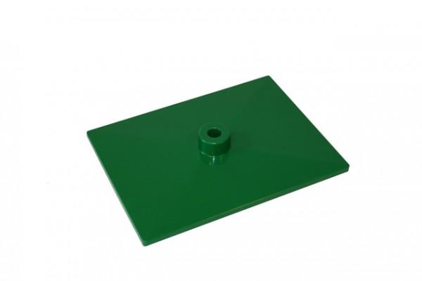 Plakatrahmen Fussplatte grün