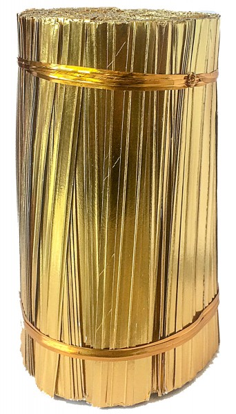 Bindestreifen 2-Draht gold 15cm (1000 Stück)