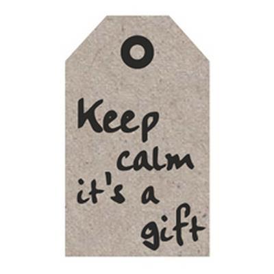 """Blumenkarten """"Keep calm it´s a gift"""" à 20 Stück"""