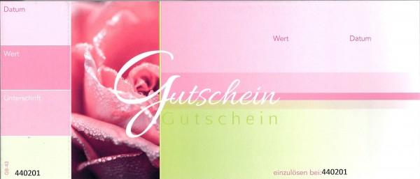 Gutscheine grün-rosa (50 Stück)