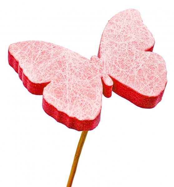 Beistecker Schmetterling Schaum rot 7cm (25 Stück)