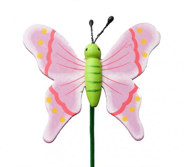 Beistecker Schmetterling auf Stock 7/50cm lila 25 Stück