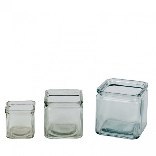 Glas Kasten Basi transp 12x12x12cm