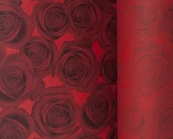 Manschettenpapier 25cm/100m Rosen rot