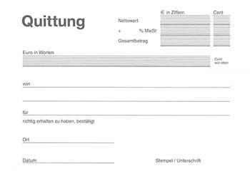 Quittungsblock A5 15x10,5cm 5x100 Blatt