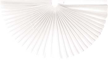 Plissee-Manschetten 145mm weiß 100 Stück