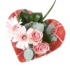 Bouquethalter Decoline Herz rot (10 Stück)