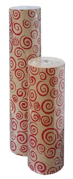 Blumenpapier Rolle 75cm 30g Braun Recy Rocailles weinrot 12kg