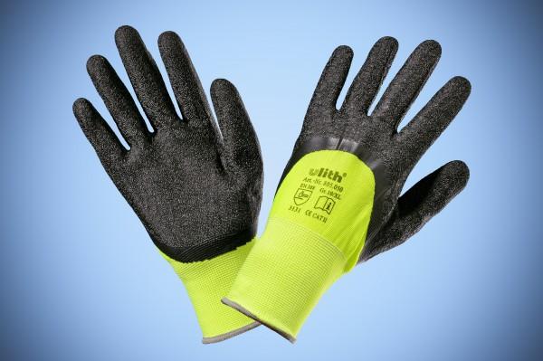 Handschuhe Feinstrick Ulith warngelb Gr. 10