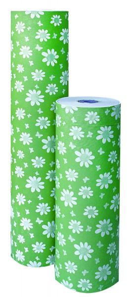 """Blumenpapier """"Petites Fleurs"""" grün 50cm 30g"""