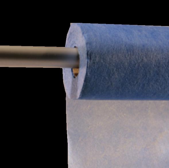 Decofleece 60cm/25m blau PMS293