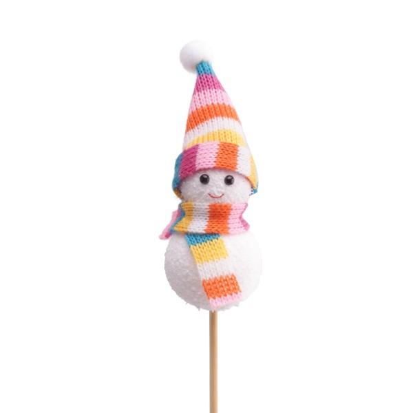 Beistecker Schneemann Olaf 8cm auf 50cm (25 Stück)