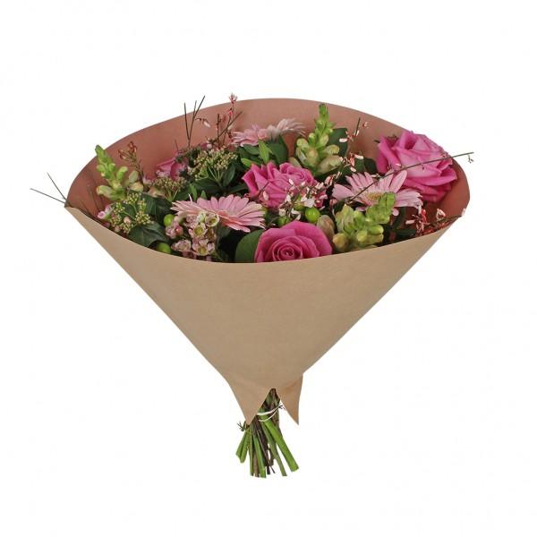 Blumentüten 35/35 Angelo braun kraft-rosa 70g (25 Stück)
