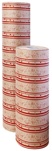 """Weihnachtspapier 75cm 30g """"Sternzauber"""" kraft rot 10kg"""