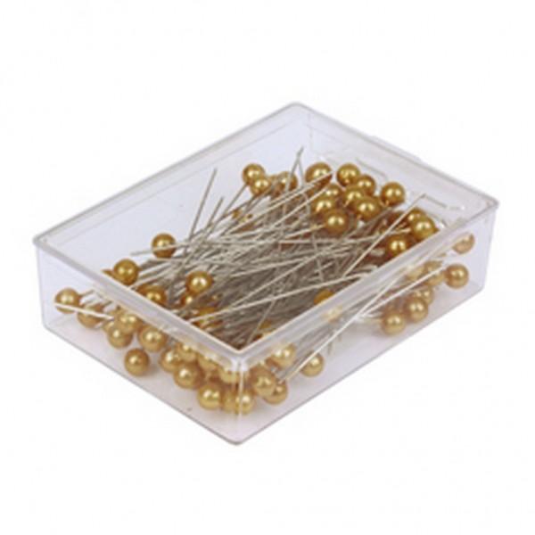 Stecknadeln 6mm gold (100 Stück)