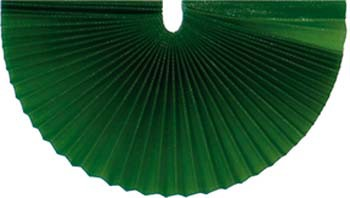 Plissee-Manschetten 125mm dunkelgrün 100 Stück