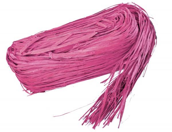Raphia Bast gefärbt rosa 250g