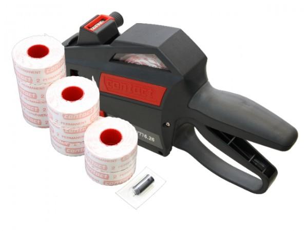 Contact Preisauszeichner Premium 6st 26x12mm 6.26 im Sparset