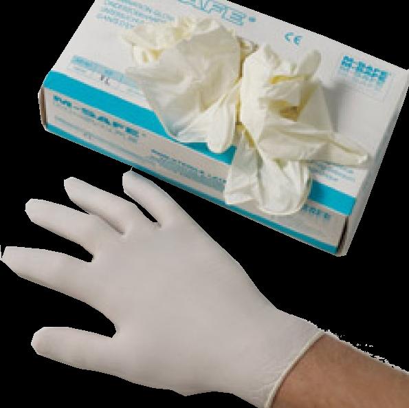 Handschuhe Latex gepudert medium 100 Stück
