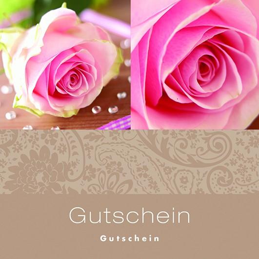 Grußkarten Roses between diamonds (12 Stück)
