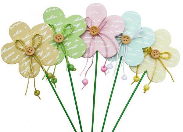 Beistecker Blumen Holz (10 Stück)